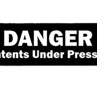 Motorcycle Helmet Sticker - Danger Contents Under Pressure