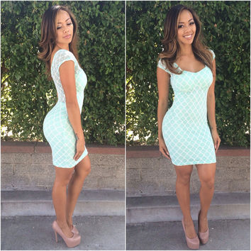 Rhombus My Dress - Mint | Fashion Nova