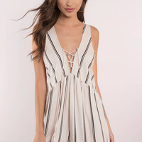 All The Stripe Moves Romper