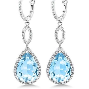 3.55 CTTW Pear Cut Gemstone Infinity Drop Earrings Made with Swarovski Elements