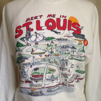 St. Louis Sweatshirt Souvenir Vintage Retro Boho Trendy Fall Shirt