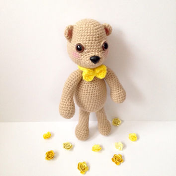 Amigurumi Bear Amigurumi Teddy Bear Crochet Bear Stuffed Animal Toy Bear Kids Toy Nursery Decor Kawaii Plush Baby Shower Birthday Gift Ideas