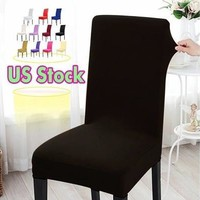 US Stock ! Dining Chair Covers Spandex Strech Dining Room Chair Protector Slipcover Decor [8833498188]