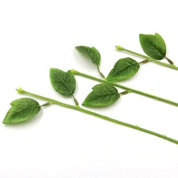 Flower Stem Artificial Branches Leaves Wedding Decoration