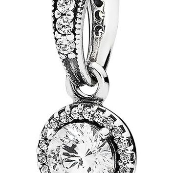 Women's PANDORA 'Classic Elegance' Dangle Pendant - Silver/ Clear