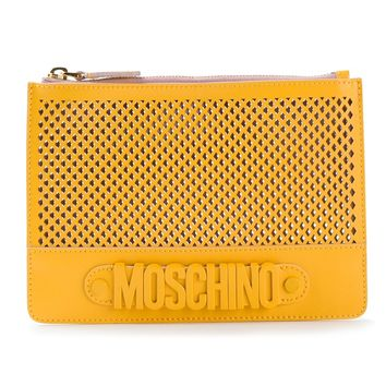 Moschino Perforated Clutch