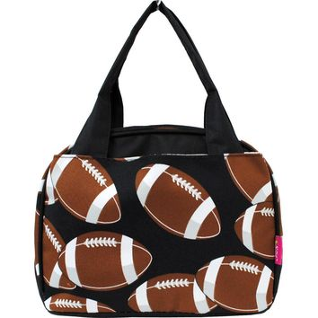 Football Print Insulated Lunch Bag