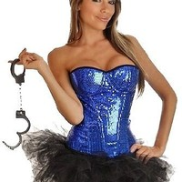 Daisy Corsets 4 PC Pin-Up Sexy Cop Costume Xlarge