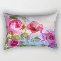 joyful flowers Rectangular Pillow by Clemm