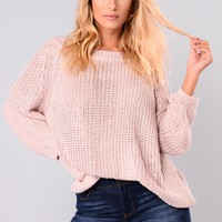 Basia Oversized Sweater - Lavender