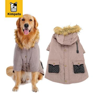 KIMHOME PET Fashion Dog Clothes Dog Pet Warm Cotton Jacket Coat Two Feet Hoodie Clothing Puppy Winter Clothes Pet Costume