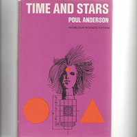 Poul Anderson vintage scifi hardcover, Time and Stars, 1960s science fiction anthology VBK01044