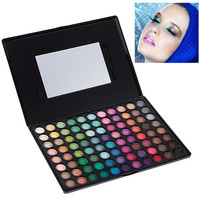 P8801 Multifunction Rectangle Box Makeup 88 Colors Eye Shadows Palette with Mirror and Two Applicators Inside