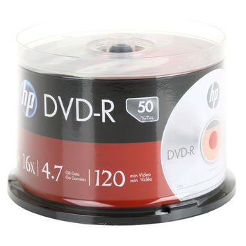 HP Branded 16X DVD-R Media 50 Pack in Cake Box (DM16050CB)