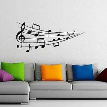 Wall Stickers Vinyl Decal Classical Music Notes Home Decor Unique Gift z1164