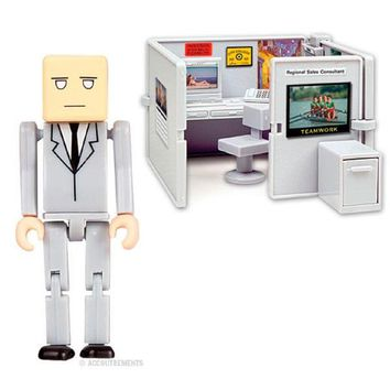 Cubicle Worker Mini Office Playset