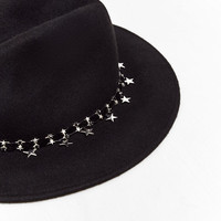 FELT HAT WITH STARRY VELVET BANDDETAILS