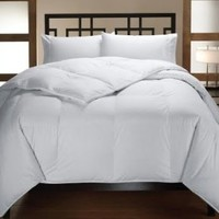 Multiple Sizes - Down Alternative Reversible Comforter White on White - Full/Queen - Exclusively by BlowOut Bedding RN #142035