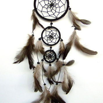 Indian Dreamcatcher, handmade, Ø 3.5 inch, length 14 inch