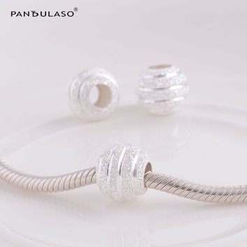 Fits Pandora Original Bracelet Authentic 925 Sterling Silver Beads Ball Vintage Charm Women DIY Jewelry Free Shipping