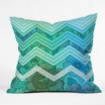 Gabi Azul Throw Pillow