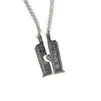 Dr. Who Police Box Friendship Necklace