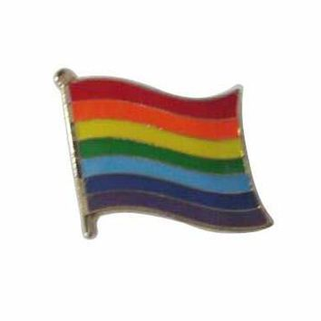 Rainbow Flag Enamel Pin Brooch