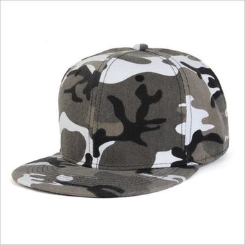 Trendy Winter Jacket oZyc hip hop cap fashion trend camo baseball cap for men and women camouflage flat brim snapback hat adult AT_92_12