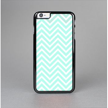 The Light Teal & White Sharp Chevron Skin-Sert Case for the Apple iPhone 6 Plus
