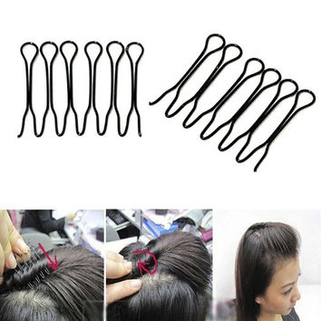 Women Fashion Styling Hair Clip Stick Bun Maker Hair Accessories (Color: Black) = 5658534145