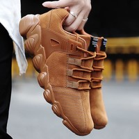 Hot Men spring casual shoes fashion comfortable stretch sneaker soft suede autumn models male Footwear sneakers adult plus size