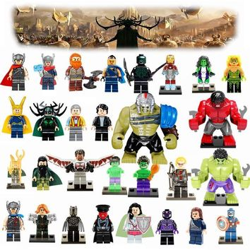 Deadpool Dead pool Taco Thor 3 Legoing Marvel DC Super Heroes Figure Blocks Avengers Hulk Loki Iron Man  Batman Joker Legoings Figures Block Toy AT_70_6