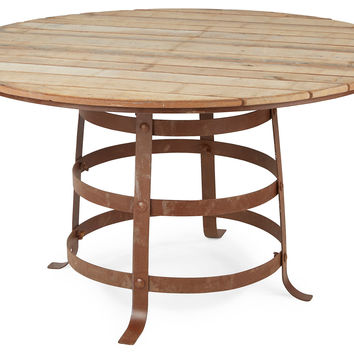"Garden 52"" Round Dining Table, Rust"
