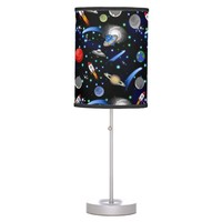 Galaxy Universe - Planets, Stars, Comets, Rockets Desk Lamp