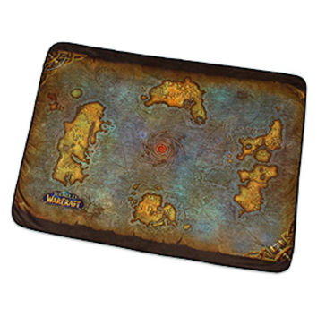 World of Warcraft Map of Azeroth Fleece Blanket