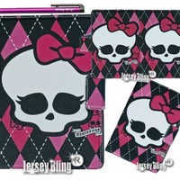 MONSTER HIGH Skull Punk Girly iPad Mini Lightweight Slim Smart Cover/Case with FREE Monster High Gift Item & Jersey Bling® Stylus
