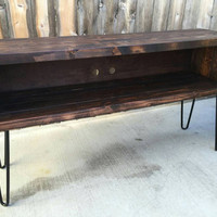XL honey entertainment center,  console stand, tv stand, electronics stand, craft furniture,