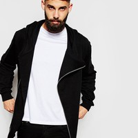 River Island Asymmetric Zip Hoodie at asos.com