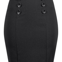 Women's Vixen High Waisted Pin Up Pencil Skirt