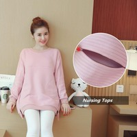 Autumn Korean Maternity Clothes Nursing Top Breastfeeding Shirts Clothing For Pregnant Winter Women Cothes Pregnancy Hoodie 2018