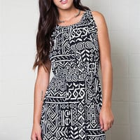 Black and White Print Dress