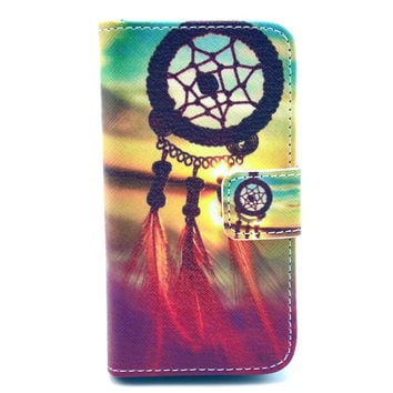 Creative Painting Leather Wallet creative case Cover