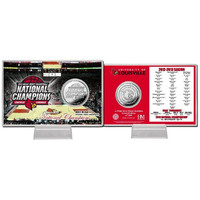 University of Louisville 2013 NCAA Basketball National Champions Silver Coin Card