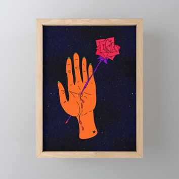 Wounded Hand // Space Framed Mini Art Print by duckyb
