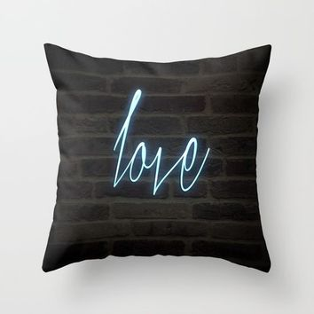 Neon Love Throw Pillow by Outside Unknown