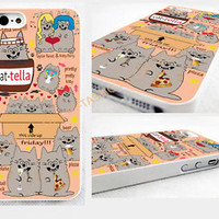 Because Cats,IPHONE 4/4S/5/5s 5c GLOSSY,CASE,COVER,emoji,pizza,cat,taylor,perry.