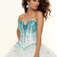 Mori Lee Dress 93029 at Peaches Boutique