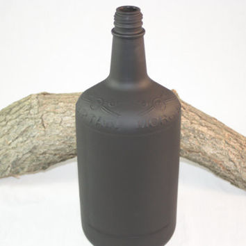 Guest Book Bottle, Birthday Guest Book, Chalkboard Bottle, Upcycled Captain Morgan Bottle