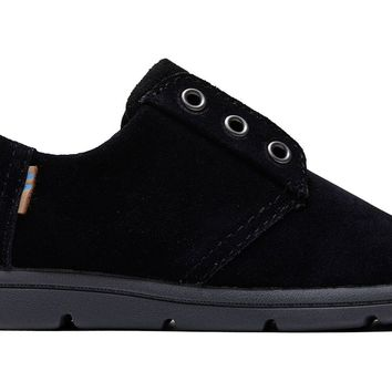 TOMS - Tiny Toms Ivan Casuals Black Suede Sneakers