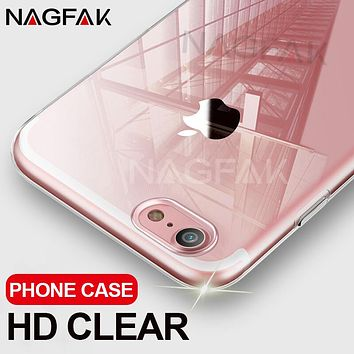 NAGFAK Ultra Thin Transparent Case For iPhone 8 7 Plus 6 6S Plus Cases Soft TPU Cover For iPhone 6 6S 7 8 Plus Phone Case Capa